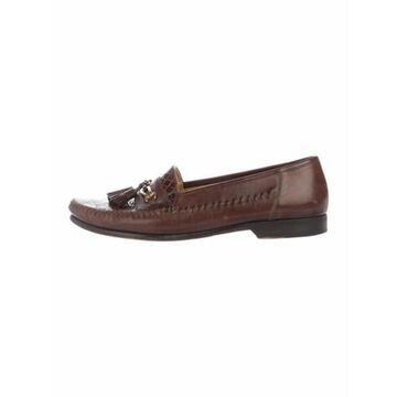 Leather Dress Loafers Brown
