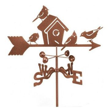 EZ Vane Birdhouse Weathervane With Deck Mount