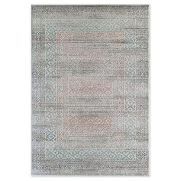 Rugs America Vintage Abstract 5' x 7' Area Rug in Pink