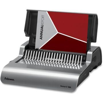 Fellowes Quasar™ E 500 Electric Comb Binding Machine w/ Starter Kit
