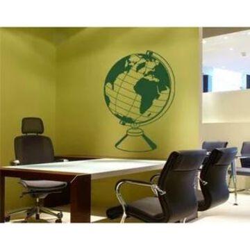 World Globe Wall Decal Vinyl Art Home Decor