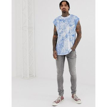 Another Influence cap sleeve tie dye tank