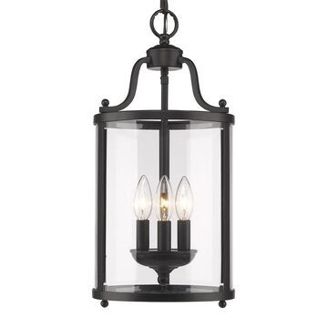 Golden Lighting's Payton #1157-3P Black 3-light Pendant (As Is Item) (Black)