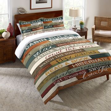 Laural Home Rules of the Cabin Comforter