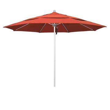 California Umbrella 11-ft Sunset No-tilt Market Patio Umbrella Stainless Steel   ALTO118002-F27-DWV