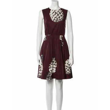 Msgm Printed Mini Dress Msgm Printed Mini Dress