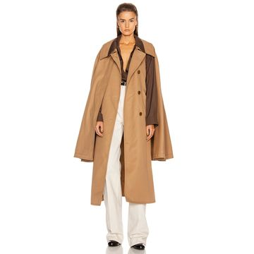 Lemaire Cape Coat in Mocca | FWRD