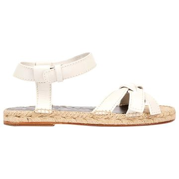 Loewe White Leather Sandals