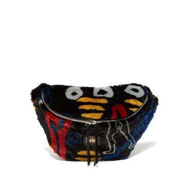 Aries - X Jeremy Deller Dude Faux Fur Belt Bag - Womens - Black Multi