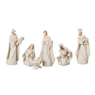 Roman 7.5 Inch Ivory Lace 6-pc. Nativity Set