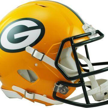 Riddell Green Bay Packers Revolution Speed Football Helmet