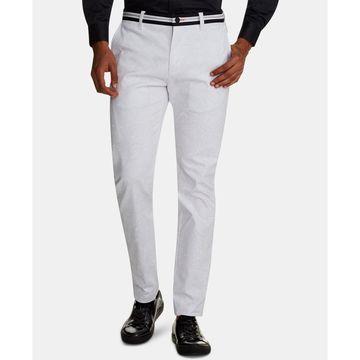 Men's Straight-Fit Stretch Paisley Pants