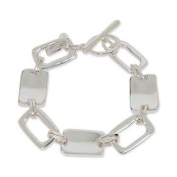 Robert Lee Morris Soho Silver-Tone Large Geometric Link Bracelet