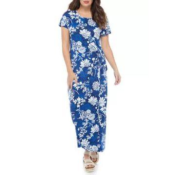 Ronni Nicole Women's Floral Printed Mock Wrap Maxi Dress -