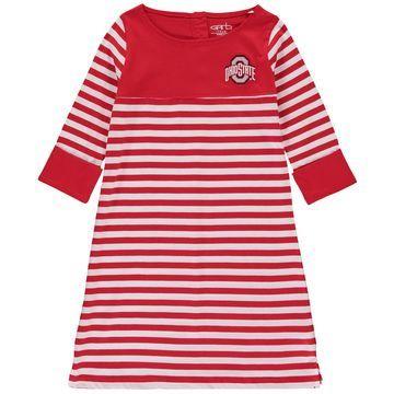 Ohio State Buckeyes Girls Youth Kristen Striped Dress - Scarlet
