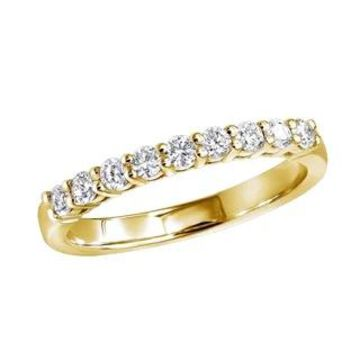 18k Gold Ladies Diamond Band 9 Stone Anniversary Ring 0.3ctw G-H Color SI1-SI2 Clarity by Luxurman