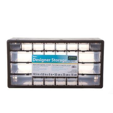 Darice Black Plastic Storage Drawers
