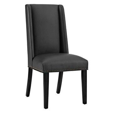 Modway Modway Baron Vinyl Dining Chair, Black
