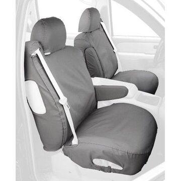Covercraft Custom-Fit Front Bucket SeatSaver Seat Covers - Polycotton Fabric, Grey