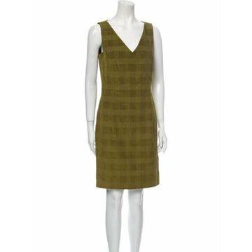 V-Neck Mini Dress Green
