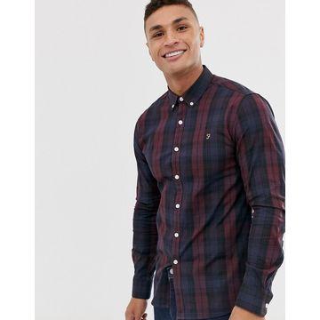 Farah Brewer slim fit plaid shirt in red