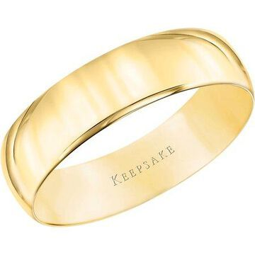 10kt Yellow Gold Wedding Band, 5mm