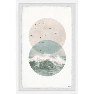 "Parvez Taj ""Pastel Waves"" Framed Painting Print"