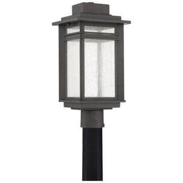 Quoizel Beacon Outdoor Post Lantern in Stone Black
