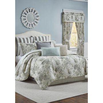 Waverly Kensington Bloom 4 Piece Comforter Set - -