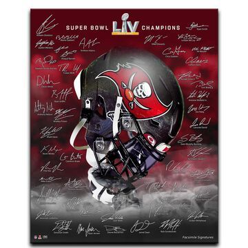 Highland Mint Tampa Bay Buccaneers Super Bowl LV Champions 16'' x 20'' Signature Stretch Canvas Photo