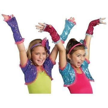 Morris Costumes Halloween Party Dance Craze Arm Warmers Pink