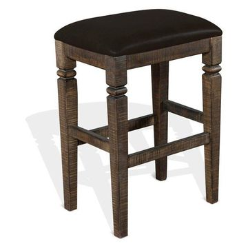 Sunny Designs Homestead Bar Stool With Dark Brown Finish 1430TL2-30