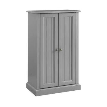 Crosley Seaside Accent Cabinet in Distressed Grey