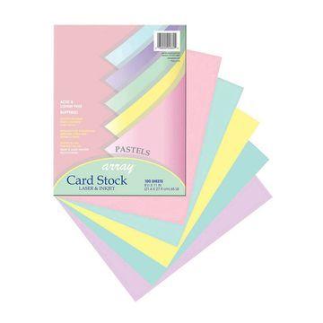 Pacon Array 200-sheet Laser & Inkjet Cardstock-Pastel Colors