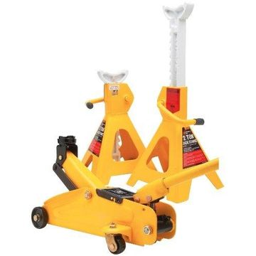 Wilmar Performance Tool W1605 2-Ton Trolley Jack And Stand
