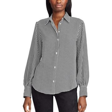 Women's Chaps Houndstooth Shirt