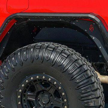Road Armor Stealth Steel Fender Liners, Stealth Rear Fender Liner Body Armor Black Steel