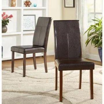 Simple Living Bettega Parson Chair (Set of 2) (Brown)