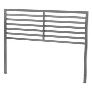 Amisco Theodore Metal Headboard, Magnetite/Glossy Gray, Full