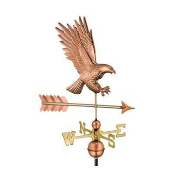 Good Directions American Bald Eagle Weathervane in Copper