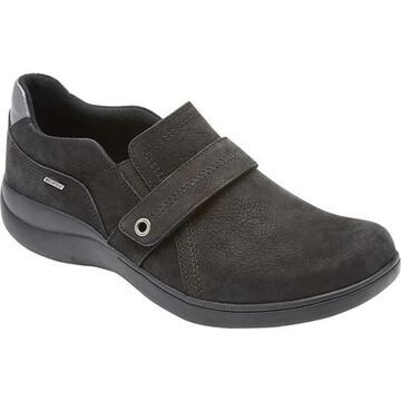 Aravon Women's RS Waterproof Slip-On Black Nubuck