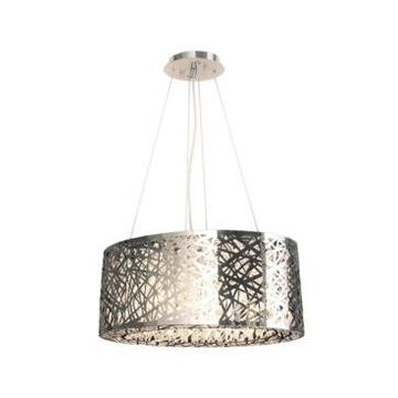 Worldwide Lighting Aramis 8-Light Chrome Finish and Clear Crystal Chandelier