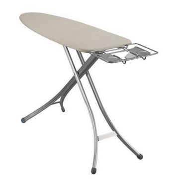 Household Essentials Lightweight Wide Top Ironing Board with Aluminum Legs