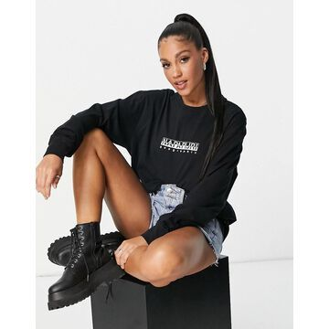Napapijri Box long sleeve t-shirt in black