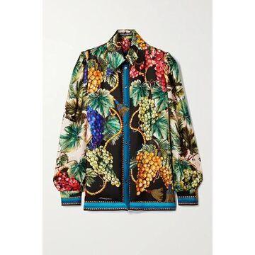 Dolce & Gabbana - Printed Silk-twill Shirt - Black