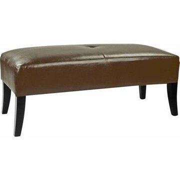 CorLiving Antonio Bonded Leather Bench