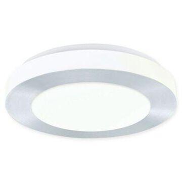 EGLO USA Carpi Semi-Flush Mount LED 11.75-Inch Ceiling Fixture in Brushed Aluminum