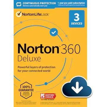 Norton 360 Deluxe for 3 Devices, Windows/Mac/Android/iOS, Download (21390663) | Quill