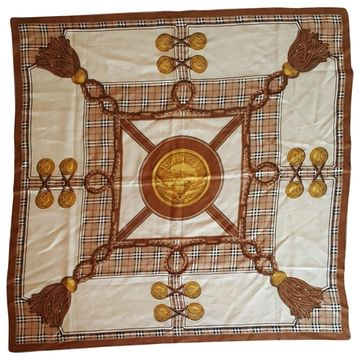 Burberry Brown Silk Scarves