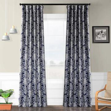 Exclusive Fabrics Palm Blackout Curtain Panel Pair